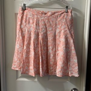 Old Navy Coral/White Floral Skirt size L